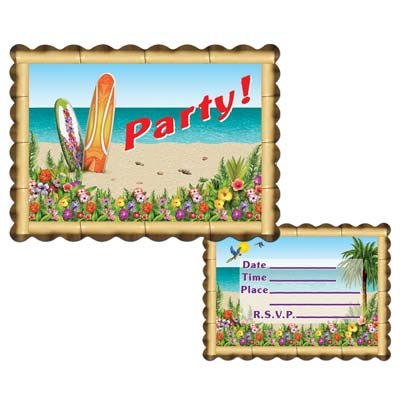 Aloha Invitations 4x5.5in