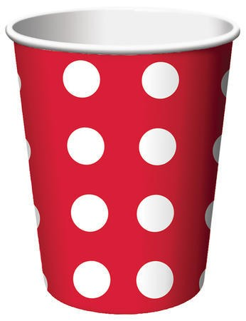 Snowman Dots Big Value 9 Oz HotCold Cup