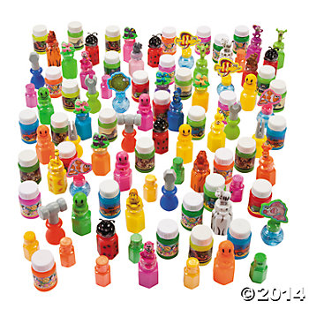 Plastic Mega Bubble Bottle Assortment