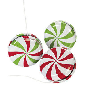 Metal Peppermint Candy Yo-Yos