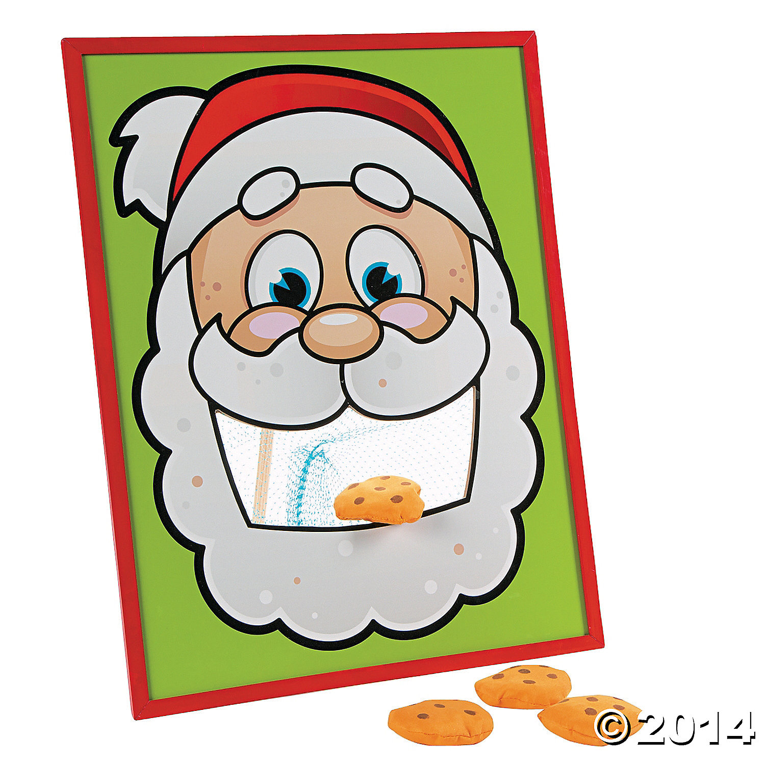 Wood Santas Cookies Bean Bag Toss