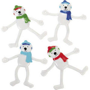 Vinyl Polar Bear Bendables