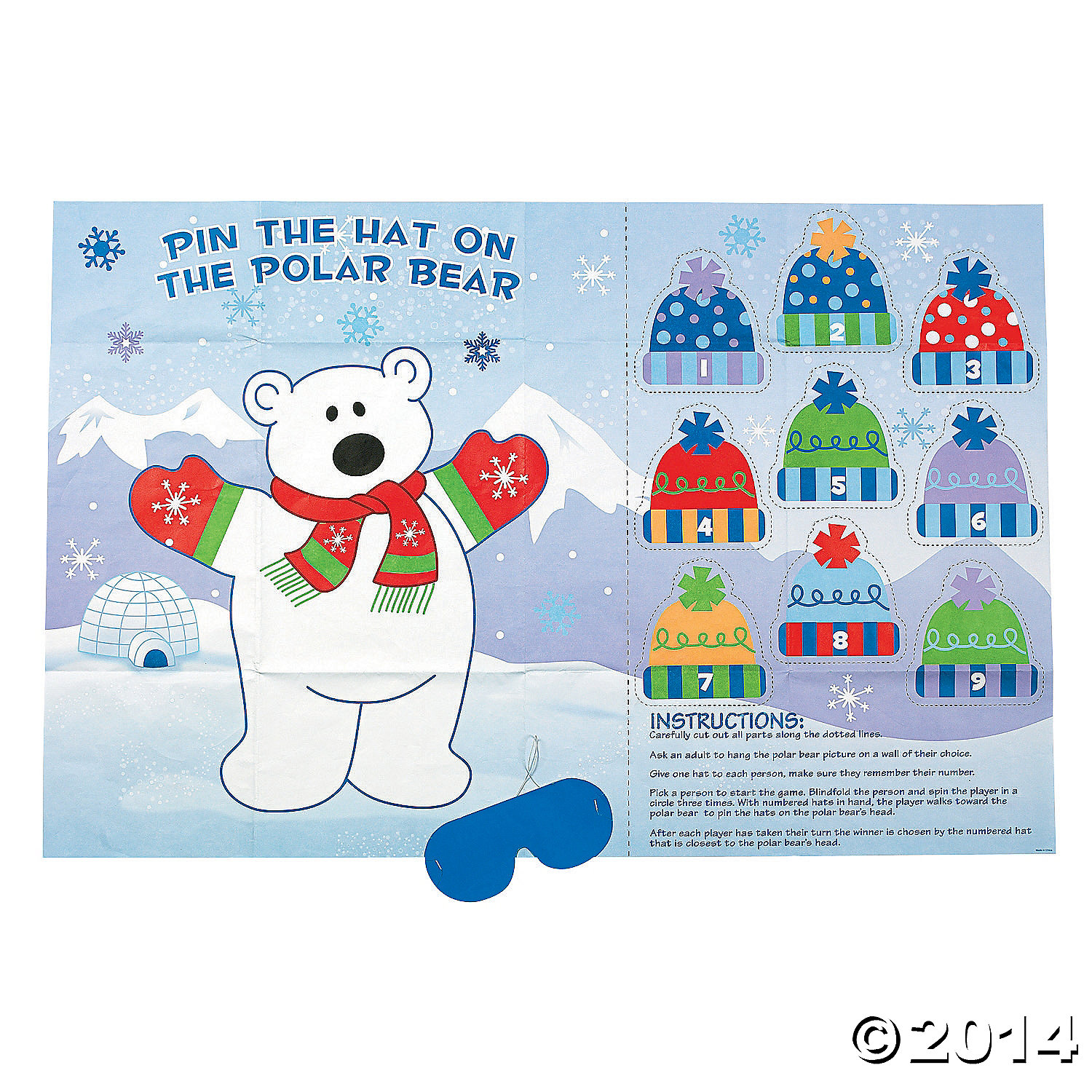 Pin the Hat on the Polar Bear Game