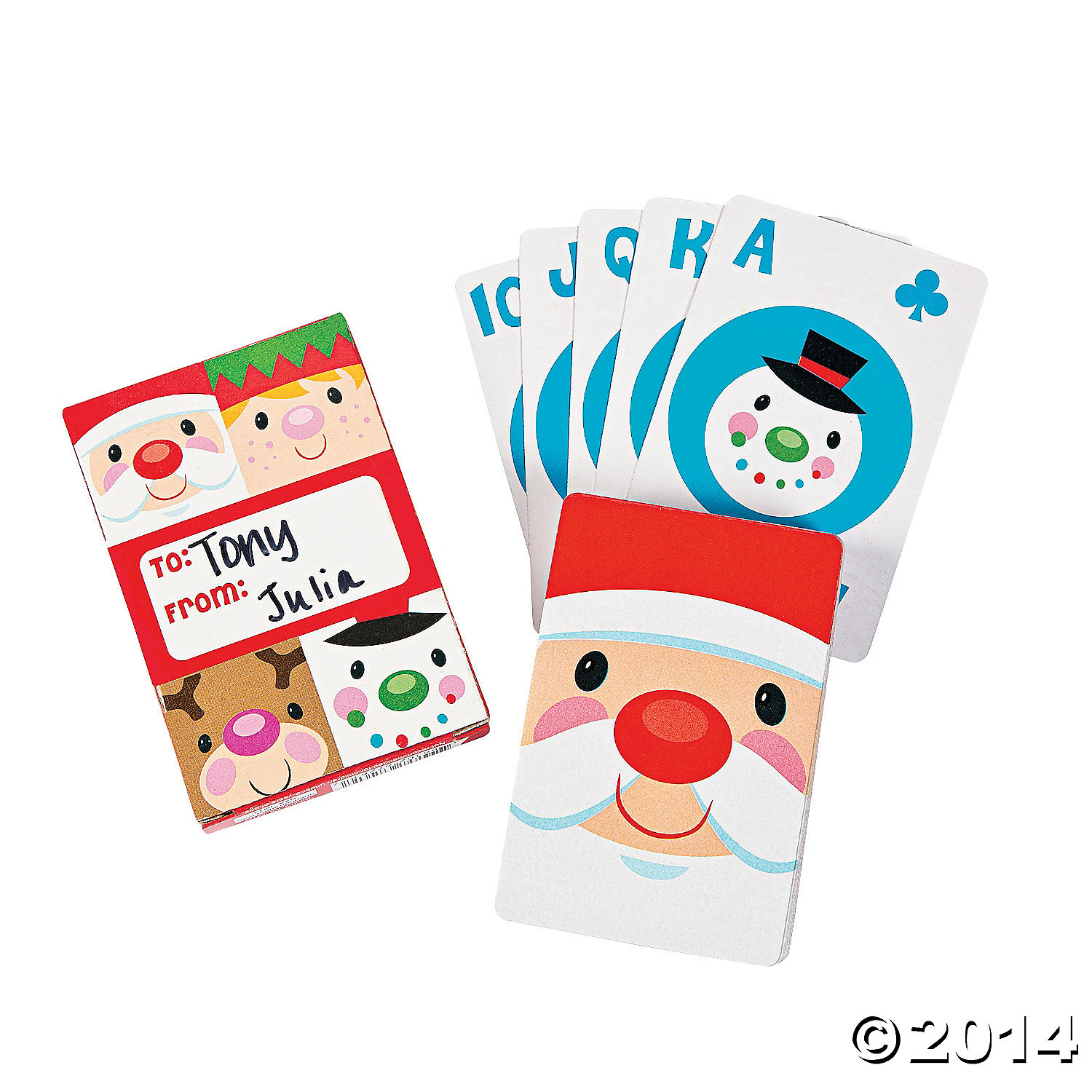 Paper Cheery Christmas Playing Cards