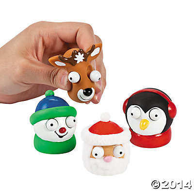Vinyl Holiday Characters with Pop-Out Eyes