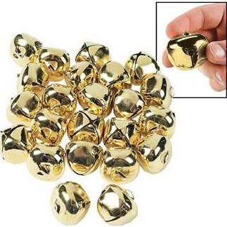 Metal Goldtone Jumbo Jingle Bells