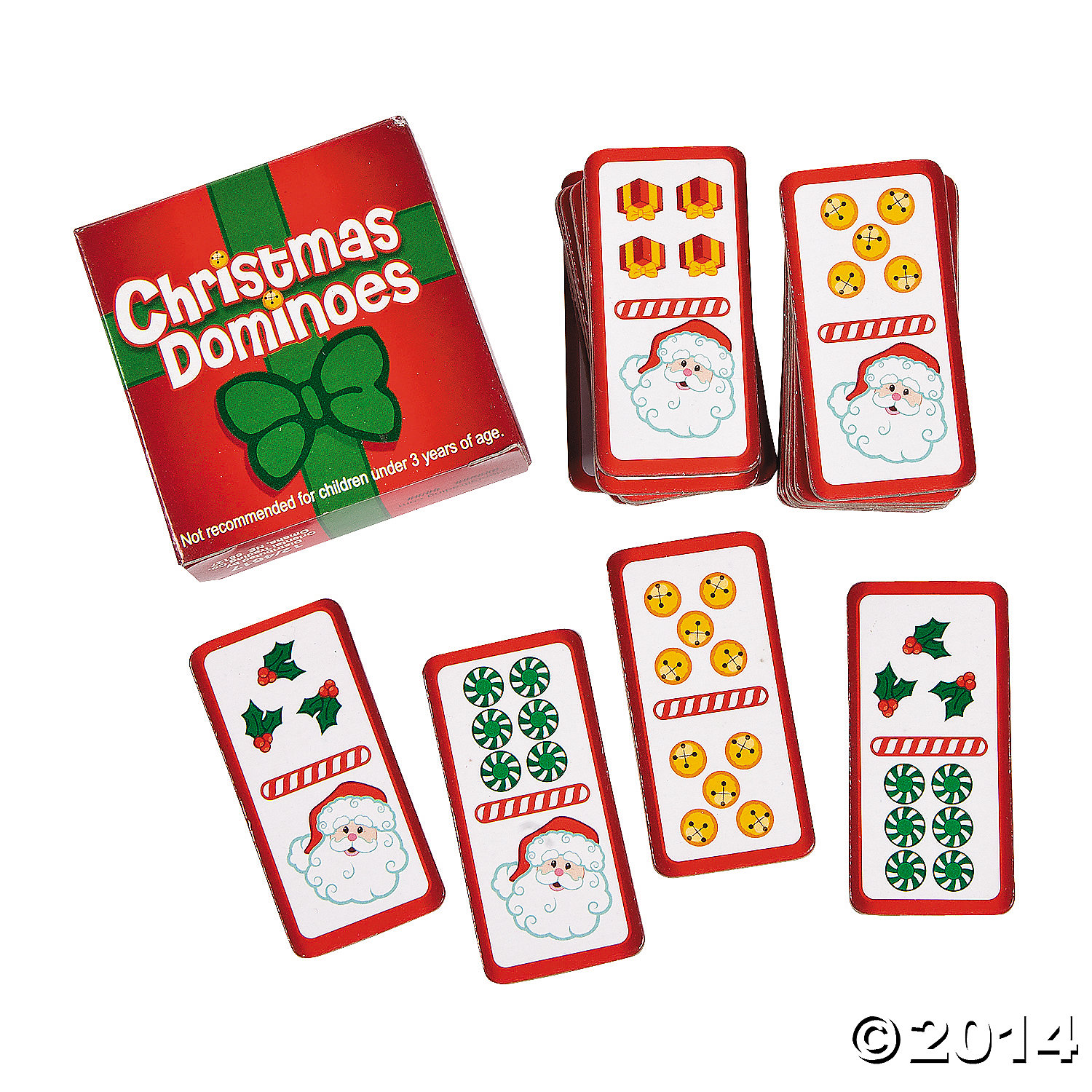 Cardboard Christmas Domino Games
