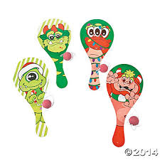 Wooden Merry Monsters Paddleball Games