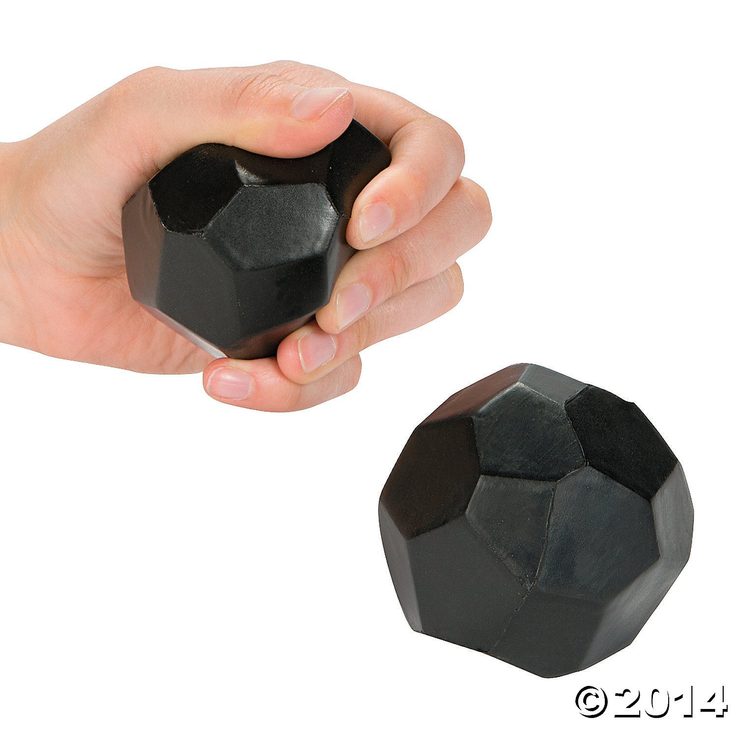 Foam Lump of Coal Stress Balls