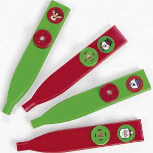 Plastic Holiday Kazoos