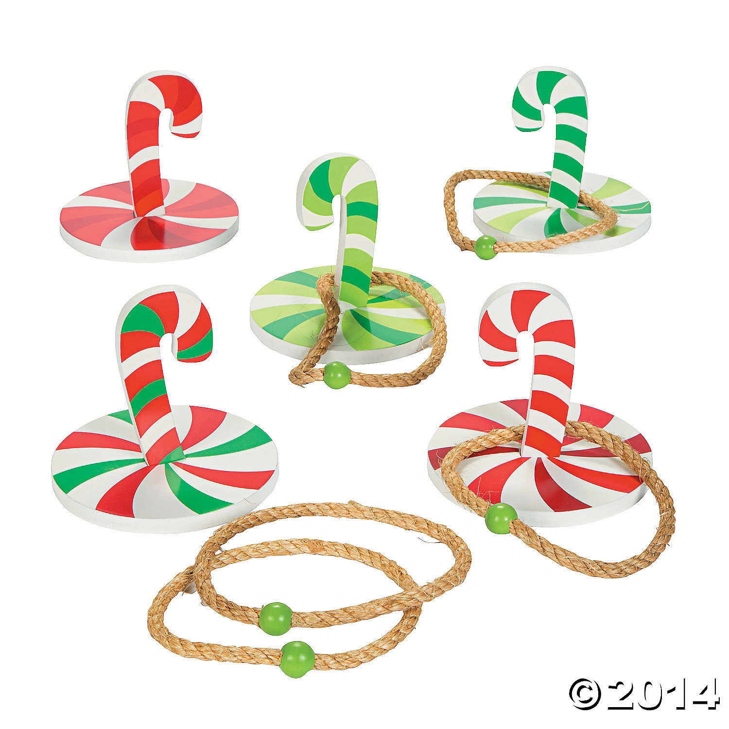 Rope Candy Cane Ring Toss Game