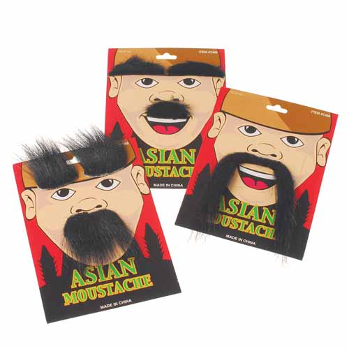 Asian Moustache Sets 3 Cards