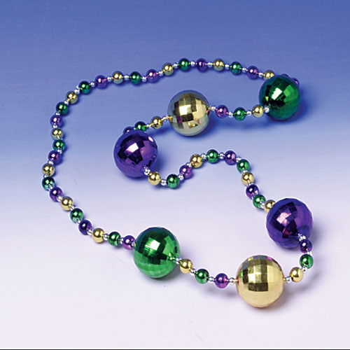 Mardi Gras Ball Necklace 70mm