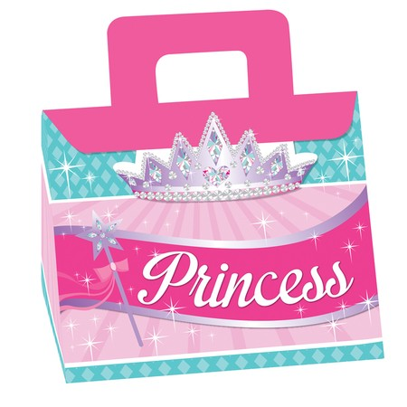 Princess Party Shaped Treat Boxes w Attachments