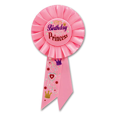Birthday Princess Rosette 3.25x6.5in