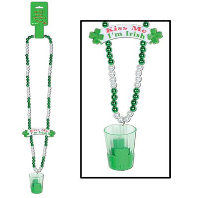 Beads w Shot Glass & Banner Bead 39in