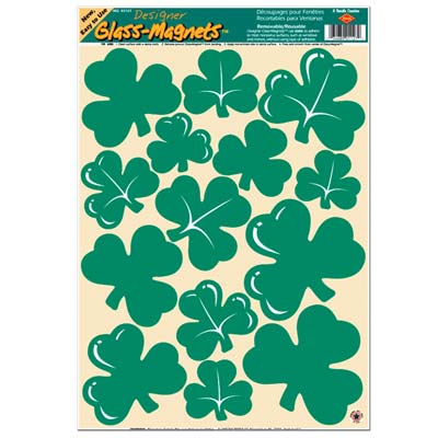 Shamrock Clings 12 x 17in Sheet