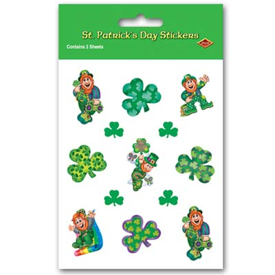 Leprechaun Stickers 4 x 7