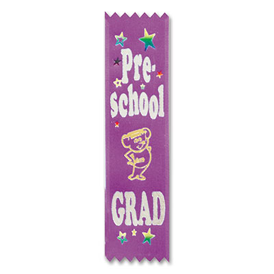 Pre-School Grad Value Pack Ribbons 1.5x6.25in