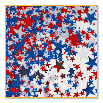 Red White Blue Stars Confett .5i Oz