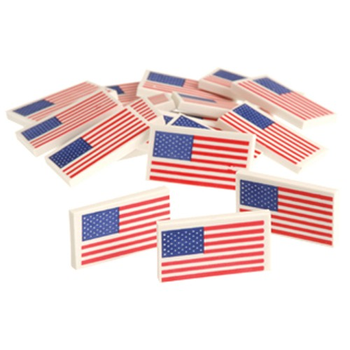 USA Flag Erasers - 36ct