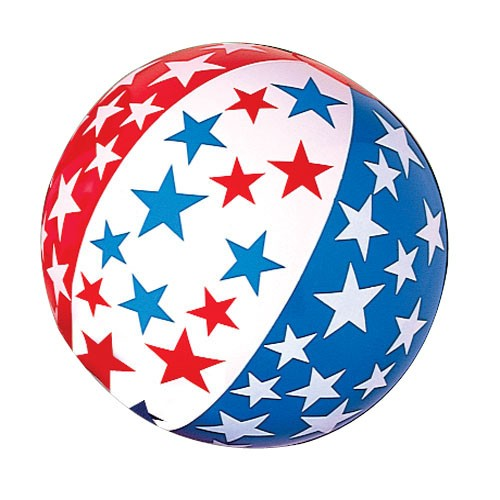 Patriotic Inflatable Beach Ball