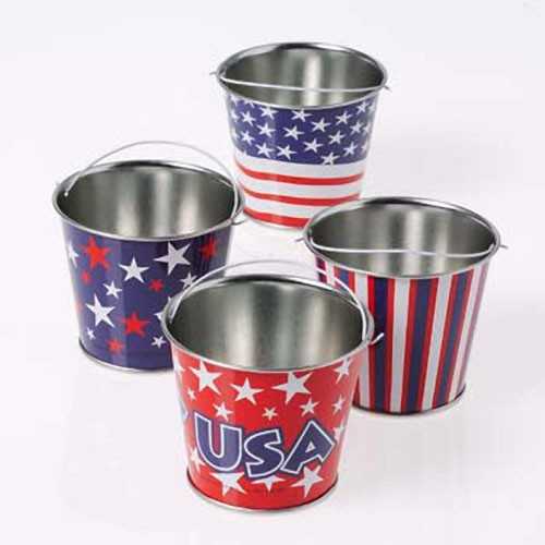 Mini Patriotic Buckets