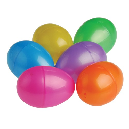 Plastic Eggs - 3 18 Inch - 6 Pieces
