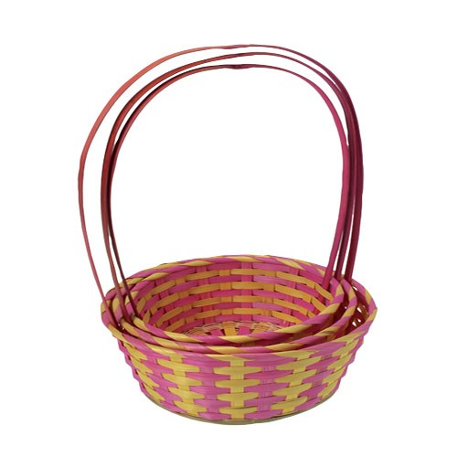 Nested Pink Easter Baskets3 Pcs