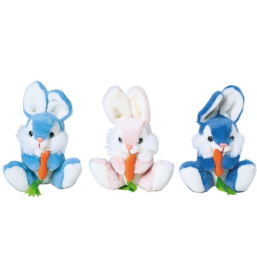Plush Baby Bunnies with Carrots