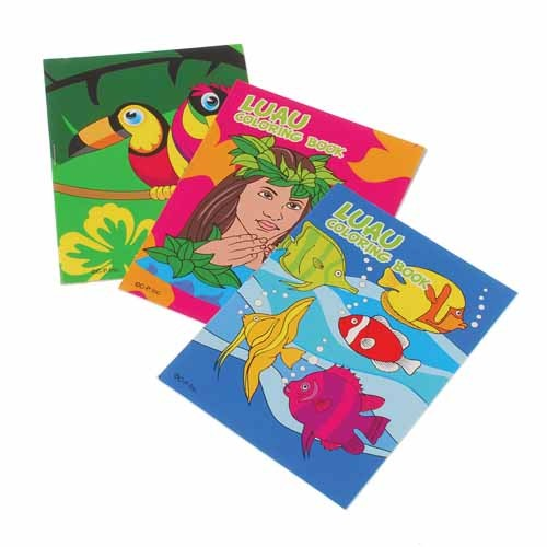 Luau Coloring Books
