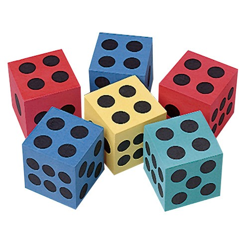 Foam Dice - 2.5in