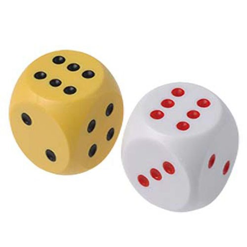 Large Colored Dice - 2ct