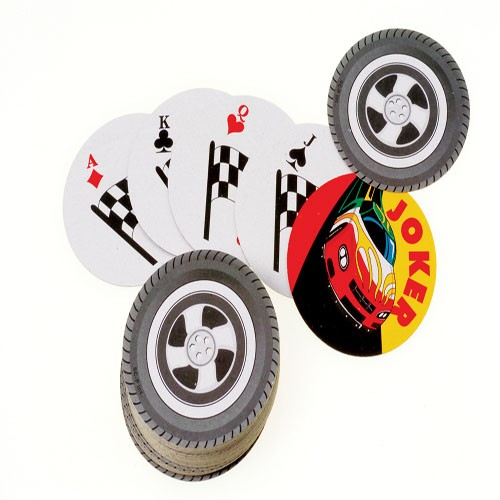 Racing Wheel Playing Cards