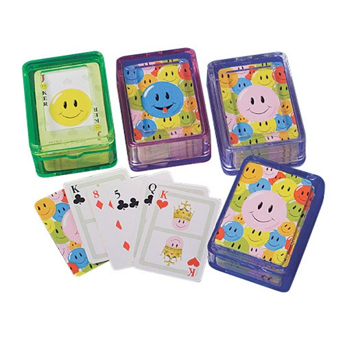 Mini Smiley Face Playing Cards