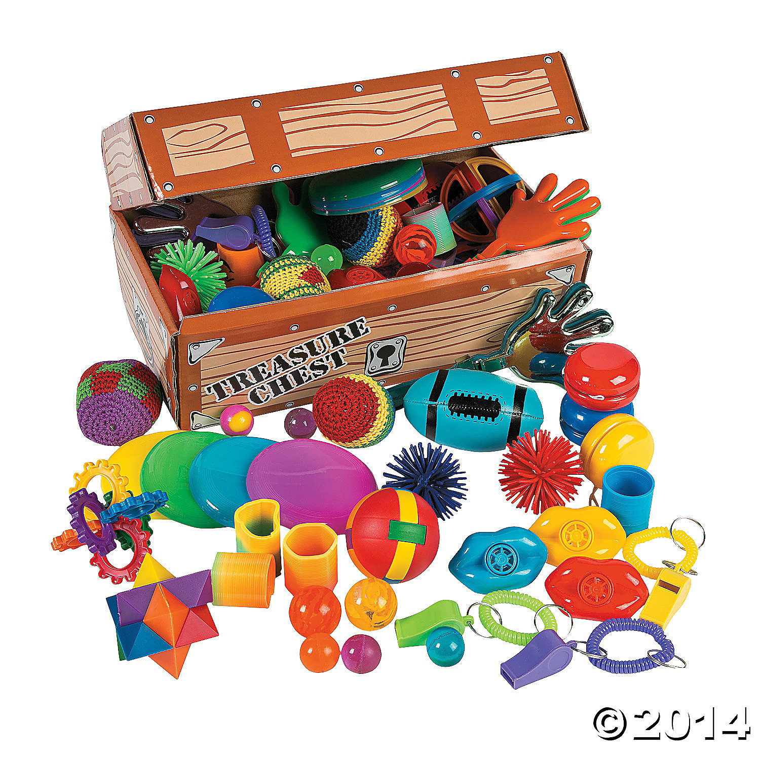 Cardboard Treasure Chest Toy Assortment