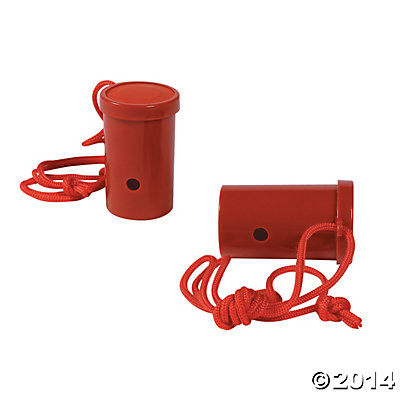 Plastic Red Air Blaster Horns
