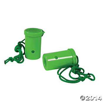 Plastic Green Air Blaster Horns