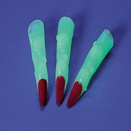 Glow in the Dark Witch Fingers-24 Pieces