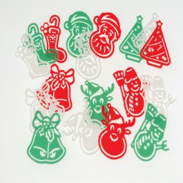 Christmas 2-N-1 Stencils And Bookmark