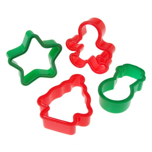 Christmas Cookie Cutters 4-Pc