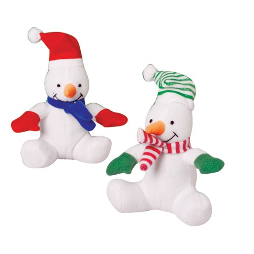 Stuffed Animal Christmas Snowmen