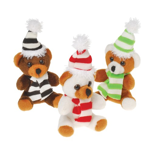 Hat and Scarf Christmas Teddy Bears