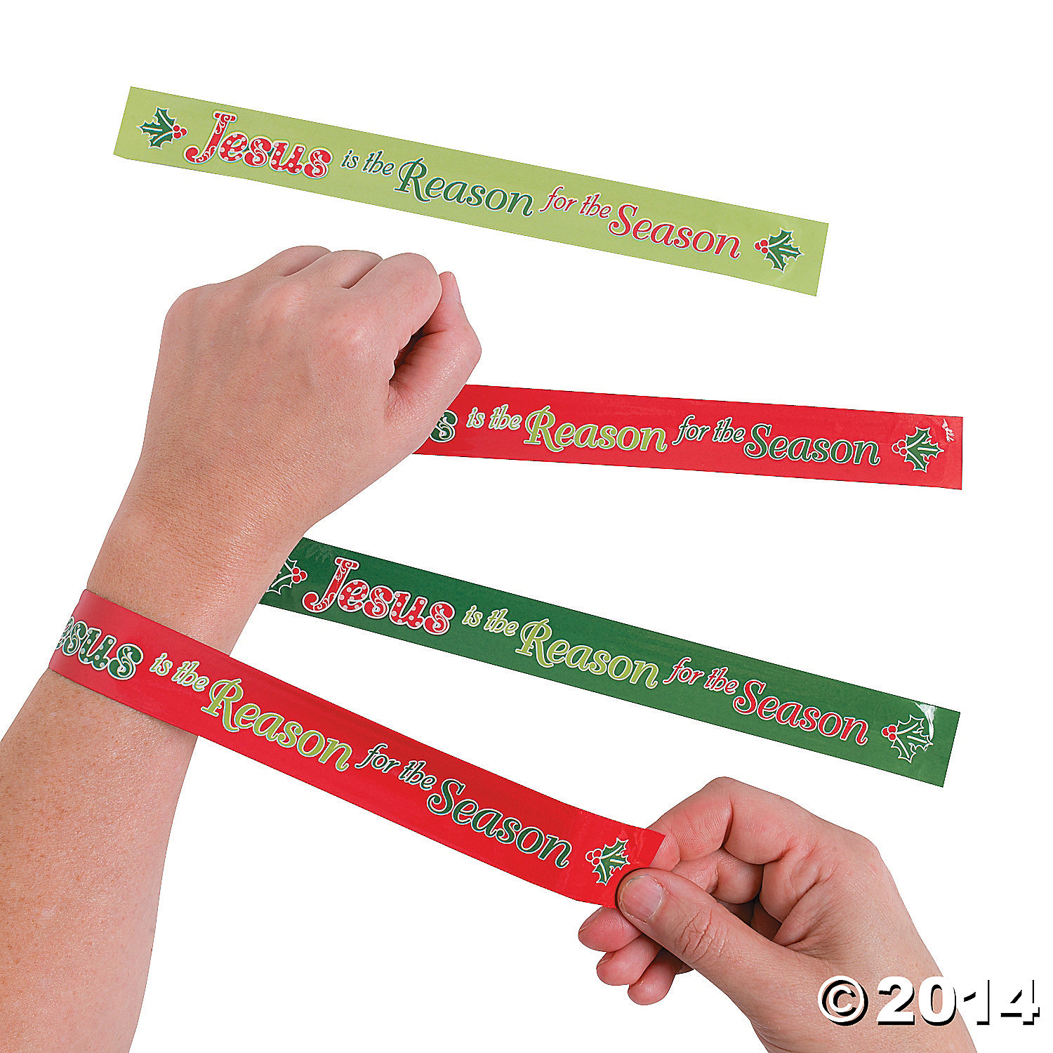Jesus Is the Reason Slap Bracelets