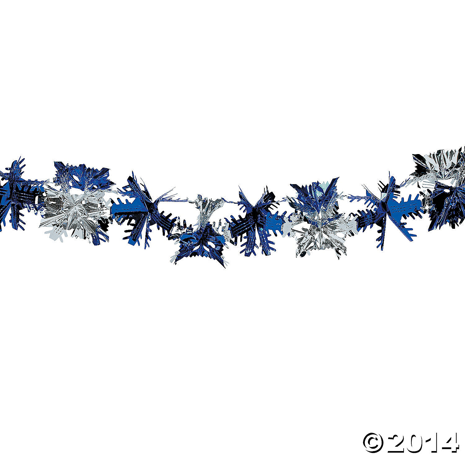 Foil Blue And Silver Snowflake Garland