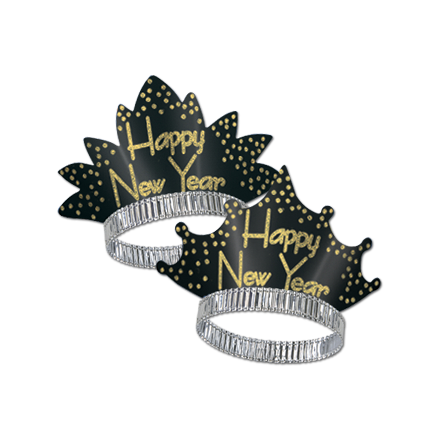 Sparkling Gold Tiaras black & gold