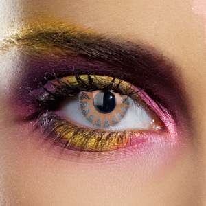 Crazy Halloween Contact Lenses - Amber 2 Tone