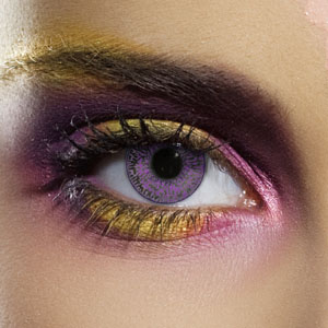 Crazy Halloween Contact Lenses - Violet 2 Tone