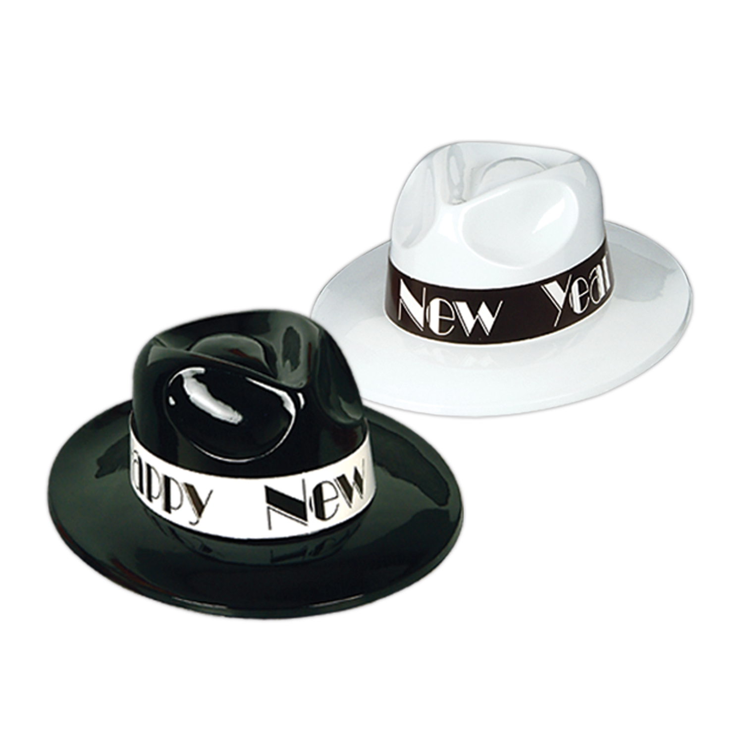 Charleston Fedoras asstd black & white
