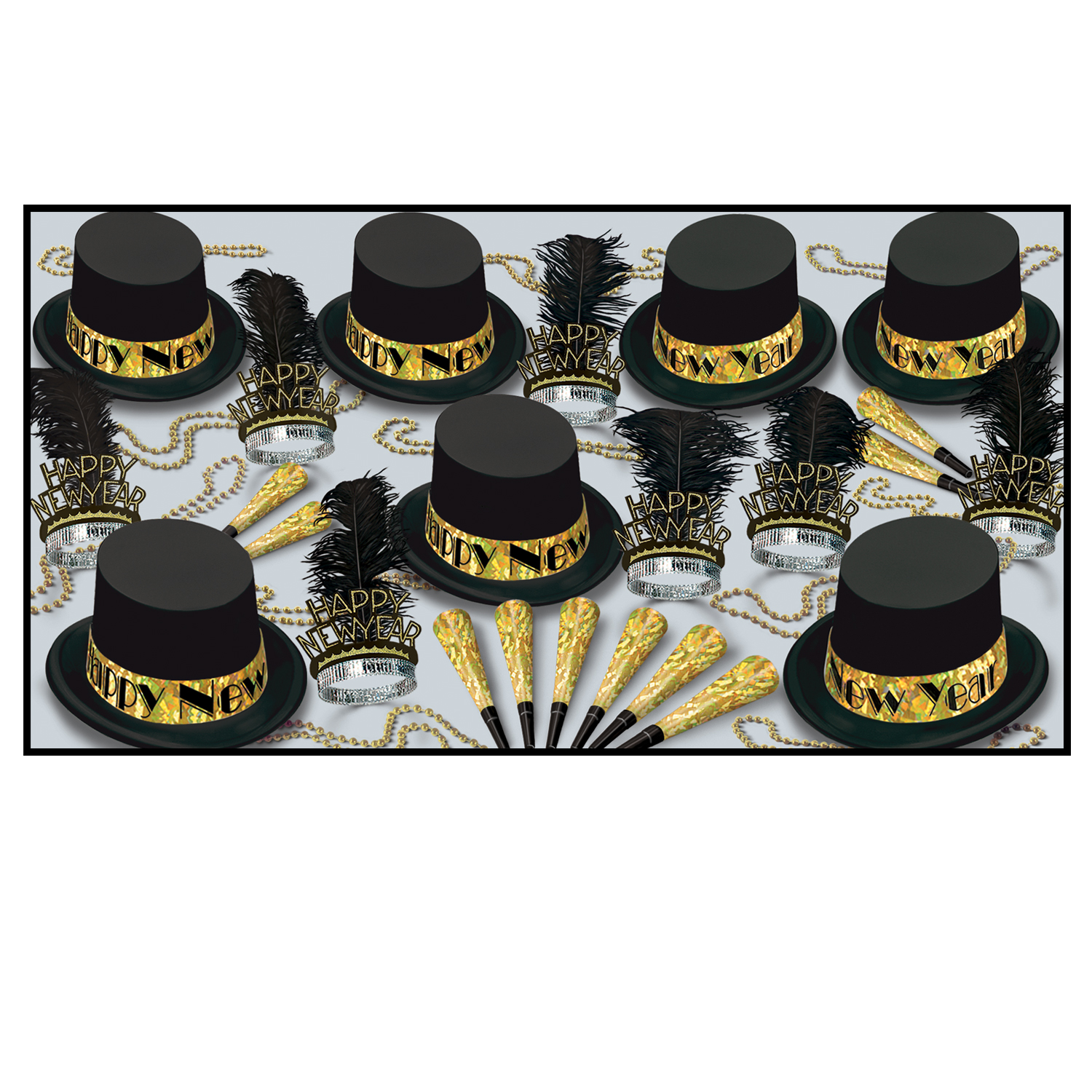 Gold Top Hat Asst for 50